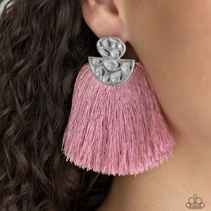 Paparazzi Make Some PLUME - Pink Earrings